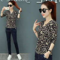T-shirt Leopard Print Other / other S,M,L,XL,2XL,3XL female Artificial colored cotton other 3 months