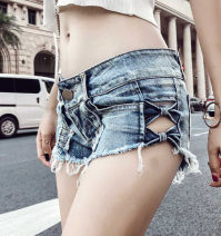 Jeans Summer of 2018 wathet S,L,M Super shorts low-waisted Thin money 18-24 years old Wash and whiten Thin denim light colour Other / other 81% (inclusive) - 90% (inclusive)