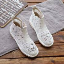 Sandals 35,36,37,38,39,40 Mesh Other / other Baotou Flat bottom Low heel (1-3cm) Summer of 2019 Trochanter Mori Solid color Vulcanized shoes rubber daily Bag heel Hollowing out Low Gang Man Gang cloth Cool boots 0.1kg
