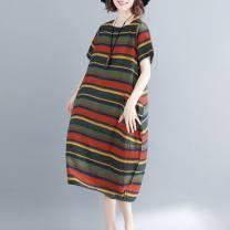 Dress Other / other M78-c-red, a78-l-green M,L,XL,XXL Short sleeve Crew neck stripe D65849
