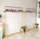 Clothing display rack 100 * 40 * 150 (gold), 120 * 40 * 150 (gold), 150 * 40 * 150 (gold), 100 * 40 * 160 (gold), 120 * 40 * 160 (gold), 150 * 40 * 160 (gold), 100 * 40 * 170 (gold), 120 * 40 * 170 (gold), 150 * 40 * 170 (gold). The size supports customization Official standard