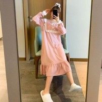 Outdoor casual clothes Tagkita / she and others female one hundred point two four Skin powder 51-100 yuan M,L,XL other Long sleeves Crew neck have more cash than can be accounted for cotton
