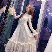 Wedding dress Spring 2021 Milky white [high quality lace, no pilling, no drawing, no deformation] milky white (thick plush) [warm in winter, no shedding] S M L XL 2XL 3XL Korean version 18-25 years old Sleeved shawl Ziyao pregnant woman Other 100% 31% (inclusive) - 50% (inclusive)