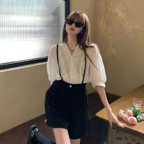 Cosplay women's wear jacket goods in stock Over 14 years old F10 white top and black suspenders comic S,M,L,XL Other brands nothing
