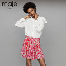 skirt Autumn of 2018 34 36 38 40 printing Middle-skirt Natural waist 81% (inclusive) - 90% (inclusive) MAJE polyester fiber Polyester fiber 90% polyurethane elastic fiber (spandex) 10%