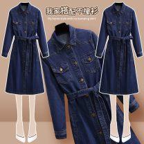 Parent child fashion blue other female Other / other S,M,L,XL See description Solid color Denim XKT7380 Other 100% 12 months