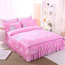 Bedding Set / four piece set / multi piece set cotton Quilting Plants and flowers 128x68 Jinglian cotton 4 pieces 40 1.0m (3.3 ft) bed, 1.2m (4 ft) bed, 1.35M (4.5 ft) bed, 1.5m (5 ft) bed Sheet type, fitted sheet type, bed cover type, bed skirt type, bedspread type, others Qualified products 100%