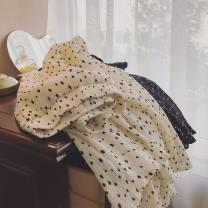 skirt Spring 2021 Average size Black, beige longuette commute High waist A-line skirt Dot Type A 18-24 years old fold