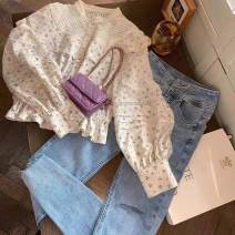 Fashion suit Summer 2021 S M L XL Apricot shirt blue jeans apricot shirt + sky blue jeans [two piece set] 18-25 years old Wanzina L-5231 Other 100% Pure e-commerce (online only)
