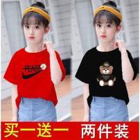 T-shirt Bbabba / children's wear 110 + [26-36 Jin], 120 + [36-42 Jin], 130 + [42-50 Jin], 140 + [50-60 Jin], 150 + [60-75 Jin], 160 + [75-90 Jin] female summer Short sleeve other Cartoon animation Cotton 80% polyester 20% Over 14 years old Chinese Mainland