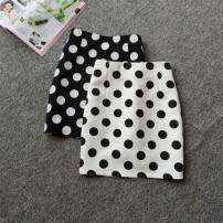 skirt Spring of 2019 XL 29, l 28, m 27, s 26, XS 25, 2XL 30 Black, white, apricot Short skirt commute High waist skirt Dot 18-24 years old 91% (inclusive) - 95% (inclusive) other Other / other polyester fiber Korean version