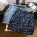 skirt Summer 2021 S,M,L,XL Light blue, dark blue Short skirt commute High waist A-line skirt letter Type A 18-24 years old More than 95% Denim Ocnltiy cotton Zipper, print Korean version