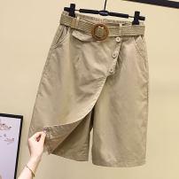 skirt Summer 2021 M,L,XL,2XL Black, khaki, brick red, turquoise longuette commute A-line skirt Ocnltiy other Korean version