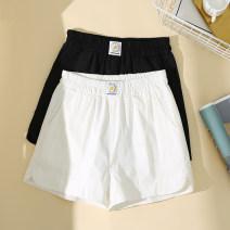 Women's large Summer 2021 Black, white L [recommended 100-115 kg], XL [recommended 115-130 kg], 2XL [recommended 130-150 kg], 3XL [recommended 150-170 kg], 4XL [recommended 170-200 kg] trousers singleton  commute easy thin Korean version High waist Ocnltiy shorts