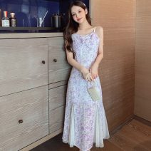 Women's large Summer 2021 Picture color S M L XL Dress singleton  commute Sleeveless Decor Korean version other Big 665 Polygonatum 18-24 years old longuette Other 100% Pure e-commerce (online only) other