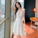 Women's large Summer 2021 Picture color S M L XL Dress singleton  Sweet Sleeveless Decor other Medium length Big 8598 Polygonatum 18-24 years old Medium length Other 100% Pure e-commerce (online only) other Ruili