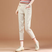 Casual pants Hemp, rust red XL,L,M,XXL Summer 2021 Ninth pants Haren pants Natural waist Other styles Thin money 25-29 years old 81% (inclusive) - 90% (inclusive) Brother amashi other belt cotton