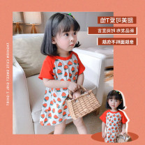 Dress Blue and white striped skirt, red strawberry skirt, Pink Leopard skirt female Other / other 7 # recommended height 85-100cm, 9 # recommended height 100-110cm, 11 # recommended height 110-115cm, 13 # recommended height 115-120cm, 15 # recommended height 120-130cm Other 100% summer other stripe