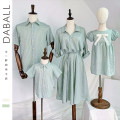 Parent child fashion Dress (within 72 hours), shirt (within 72 hours) A family of three Female, male, neutral Other / other 80cm, 90cm, 100cm, 110cm, 120cm, 130cm, 140cm, 150cm, 160cm, adult s, adult m, adult L, Adult XL, adult 2XL, adult 3XL summer leisure time Thin money stripe skirt cotton Class B