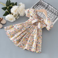 Dress As shown in the figure female Other / other 80cm,90cm,100cm,110cm,120cm,130cm Cotton 100% summer princess Short sleeve Broken flowers cotton other other 12 months, 9 months, 18 months, 2 years old, 3 years old, 4 years old, 5 years old, 6 years old, 7 years old