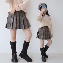 skirt 110 for height, 120 for height, 130 for height, 1140 for height, 1150 for height, 160 for height, 170 for height Other / other female Other 100% winter Miniskirt lattice Pleats C57615