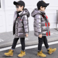 Cotton padded jacket male No detachable cap other Buding Kingdom Red, blue, black, silver, copper, bright silver 110cm,120cm,130cm,140cm,150cm,160cm thickening Zipper shirt leisure time There are models in the real shooting Solid color other Class B stand collar Other 100%