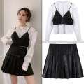 shirt White shirt, black leather skirt Xs-155 (80-95kg), s-160 (95-110kg), m-165 (110-125kg) cotton 96% and above Deziree Ying / Yingdi Sujie 2D1D508