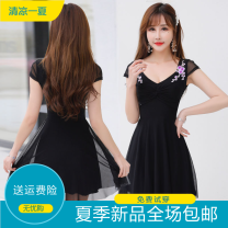 Dress Winter 2016 White, black, red, rose, pink, yellow, blue S,M,L,XL Short skirt A-line skirt