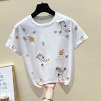T-shirt 690 white, 690 black, 2050 white, 2050 purple, 2050 rose red, 2056 white, 2056 yellow, 2056 orange, 2051 white, 2051 purple, 2051 rose red S. M, l, XL, 24 yuan from 500 pieces Summer 2021 Short sleeve Crew neck easy Regular routine commute cotton 86% (inclusive) -95% (inclusive) youth