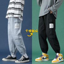 Casual pants Others Youth fashion Black, light grey M. L, XL, 2XL, 3XL, s small, XS plus small routine trousers Other leisure easy Four seasons teenagers Youthful vigor 2021 Little feet Overalls