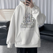 Sweater Youth fashion Others White, gray, khaki, lavender S. M, l, XL, 2XL, 3XL, XS plus small, 4XL, 5XL other Socket Plush Hood winter easy leisure time teenagers tide routine Polyester 62% cotton 38% printing other