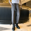 Western-style trousers Others Youth fashion Off white, grey, black S. M, l, XL, 2XL, XS plus small trousers Polyester fiber 77% viscose fiber (viscose fiber) 21% polyurethane elastic fiber (spandex) 2% easy spring leisure time teenagers Solid color 2021