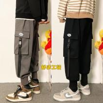 Casual pants Others Youth fashion Khaki, grey, black M. L, XL, 2XL, 3XL, 4XL, 5XL, s small, XS plus small routine trousers Other leisure easy Four seasons teenagers Youthful vigor 2021 Little feet Overalls Pocket decoration