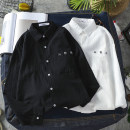 shirt Youth fashion Others M. L, XL, 2XL, s small, XS plus small White, black routine square neck Long sleeves easy Other leisure Four seasons youth tide 2020