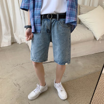 Jeans Youth fashion Others M. L, XL, 2XL, 3XL, s small, XS plus small blue routine Micro bomb Regular denim Pant Other leisure summer teenagers Medium low back Loose straight tube tide zipper washing washing