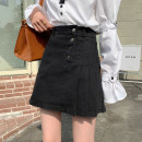 skirt Spring 2021 S,M,L,XL Blue, black, blue + belt, black + belt, white 5091 Short skirt commute High waist Denim skirt Solid color Type A 18-24 years old 31% (inclusive) - 50% (inclusive) other other Button Korean version