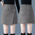 skirt Winter of 2019 S/26 M/27 L/28 XL/29 XXL/30 3XL/31 Check pattern Short skirt Versatile High waist A-line skirt lattice SWKJ8652 71% (inclusive) - 80% (inclusive) Filiform flower polyester fiber Polyester fiber 76.4% viscose fiber (viscose fiber) 19.9% polyurethane elastic fiber (spandex) 3.7%