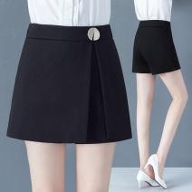 skirt Spring 2021 S/26 M/27 L/28 XL/29 XXL/30 3XL/31 black Short skirt Versatile High waist A-line skirt 2108-1 91% (inclusive) - 95% (inclusive) Filiform flower polyester fiber Polyester 92.2% polyurethane elastic fiber (spandex) 7.8%