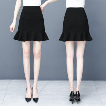 skirt Summer 2020 S/26 M/27 L/28 XL/29 XXL/30 Pink black yellow white Short skirt Versatile High waist Ruffle Skirt KKM2033 81% (inclusive) - 90% (inclusive) Filiform flower polyester fiber Polyester fiber 87.9% polyurethane elastic fiber (spandex) 12.1%