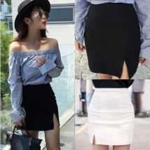 skirt Autumn 2016 XS S M L XL White 620 [zipper] black 620 [zipper] white 621 [invisible zipper] black 621 [invisible zipper] Short skirt commute High waist skirt Solid color 81% (inclusive) - 90% (inclusive) brocade cotton zipper Korean version