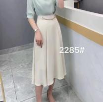 skirt Summer 2021 S,M,L,XL black , white , Apricot , yellow , Pink