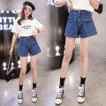 Jeans Spring 2021 blue S,M,L,XL,2XL,3XL,4XL,5XL shorts High waist Wide legged trousers routine 18-24 years old washing Cotton denim 31% (inclusive) - 50% (inclusive)