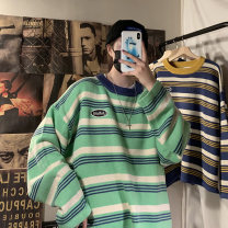 T-shirt / sweater Others Youth fashion Rice stripe, green stripe, blue stripe M,L,XL routine Socket Crew neck Long sleeves easy leisure time tide teenagers routine stripe No iron treatment