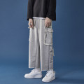 Casual pants Others Youth fashion Light grey, black M,L,XL,2XL routine Ninth pants Other leisure easy Micro bomb autumn teenagers tide 2020 middle-waisted Straight cylinder Cotton 65% polyethylene terephthalate (polyester) 35% Sports pants Pocket decoration cotton