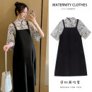 Dress Other / other M,L,XL,XXL Korean version Long sleeves Medium length summer Lapel Solid color