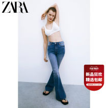 Jeans Spring 2021 blue 34 (165/62A) 36 (165/66A) 38 (170/70A) 40 (170/74A) 42 (175/78A) 44 (175/82A) trousers High waist Straight pants routine 25-29 years old Button other Dark color 07513082400-30 ZARA Cotton 76% Lyocell fiber (Lyocell) 12% polyurethane elastic fiber (spandex) 4% others 8%