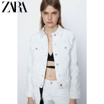 short coat Summer 2021 XS (160/80A) S (165/84A) M (170/88A) L (175/96A) XL (175/100A) white Long sleeves routine routine singleton  Straight cylinder Versatile routine Polo collar Single breasted Solid color 25-29 years old ZARA 96% and above Button cotton