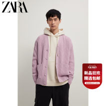 T-shirt / sweater ZARA Fashion City lavender S (175/92A) M (180/96A) L (180/100A) routine Cardigan V-neck Long sleeves 05755401629-30 easy 2020 Cotton 60% polyacrylonitrile fiber (acrylic fiber) 40% leisure time Simplicity in Europe and America youth Solid color Winter 2020 washing
