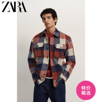 shirt Youth fashion ZARA S (175/92A) M (180/96A) L (180/100A) XL (185/104A) blue routine Pointed collar (regular) Long sleeves standard Other leisure winter 00387401400 - thirty youth Polyacrylonitrile fiber ( acrylic fibres ) forty %  Polyester 35 %  Wool 21 %  Other 4 % Youthful vigor 2020 lattice