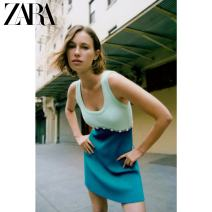 Dress Summer 2021 Color matching S (165/84A) M (170/88A) L (175/96A) XL (175/100A) Short skirt singleton  Sleeveless Sweet Crew neck other Socket routine 25-29 years old Type A ZARA Splicing 02142085050-30 31% (inclusive) - 50% (inclusive) nylon Ruili